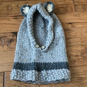 Susan M. Kennedy Designs Fox Hooded Cowl Hand Knit